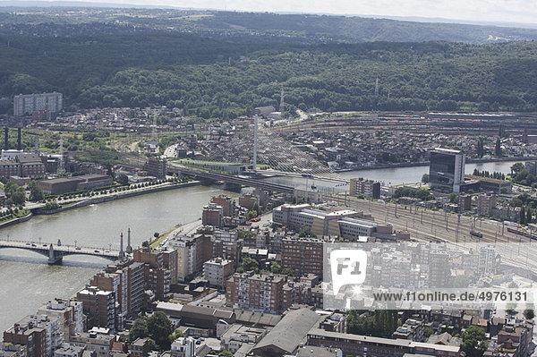 Luftaufnahme von Lüttich