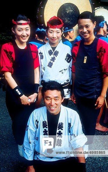 Tradition  Großstadt  Tokyo  Hauptstadt  Festival  Asien  August  Japan  Schrein
