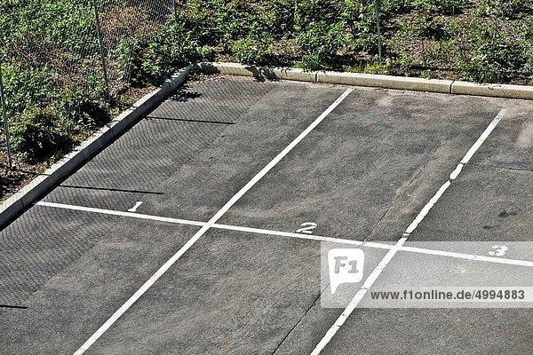 leer  parken  Nummer