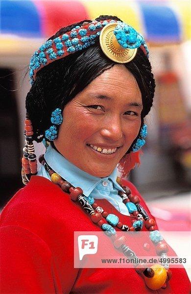 junge Frau  junge Frauen  China  Lhasa  Tibet
