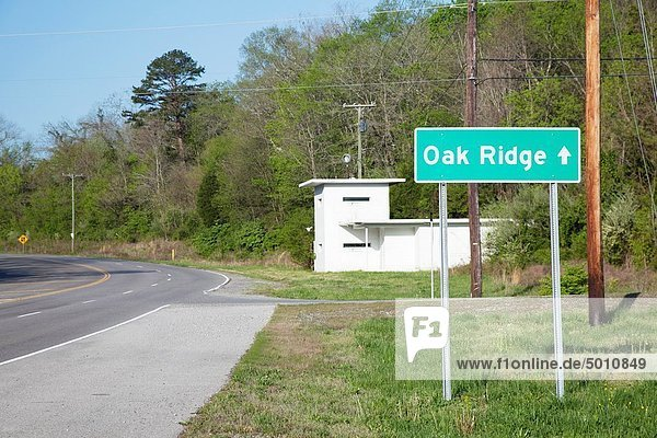 Oak Ridge  Tennessee - A guard house which was used to restrict access to the ´secret city´ of Oak Ridge after it was established during World War II as a site for enriching uranium for nuclear weapons