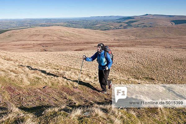 Leuchtturm  wandern  vorwärts  Brecon Beacons National Park  Wales  Weg