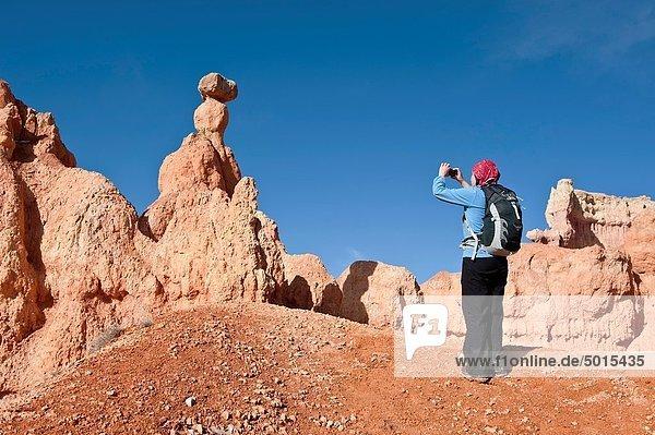Vereinigte Staaten von Amerika  USA  Fotografie  nehmen  folgen  Anordnung  Garten  wandern  Bryce Canyon Nationalpark  Queens  Utah