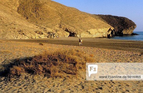Landschaft Strand Andalusien Mond Medien Spanien Biosphärenreservat