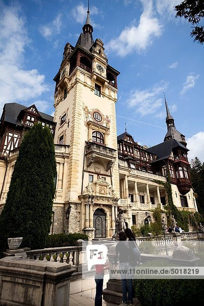 Europa  Palast  Schloß  Schlösser  Fassade  Rumänien  Sinaia