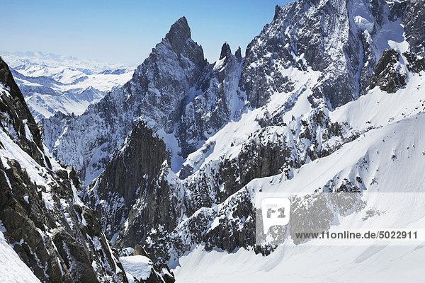Berg  bedecken  Himmel  blau  Schnee