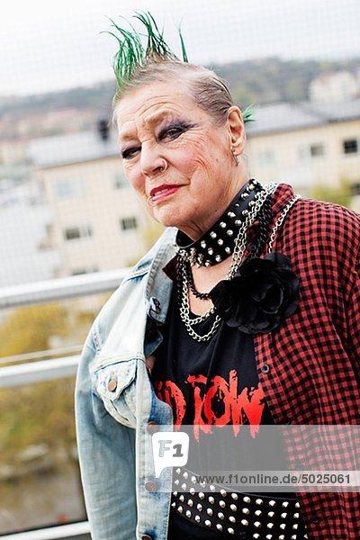 ältere Frau Lächeln  portrait