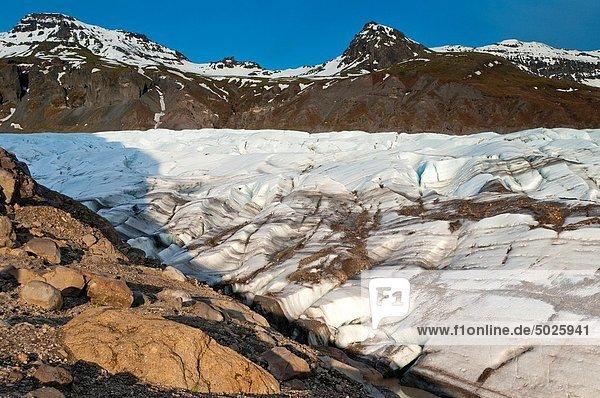 Vatnajokull  Iceland Glacier  Skaftafelll  Iceland