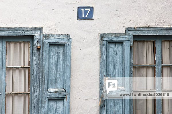Fenster typisch Katalonien Pyrenäen Spanien Valle