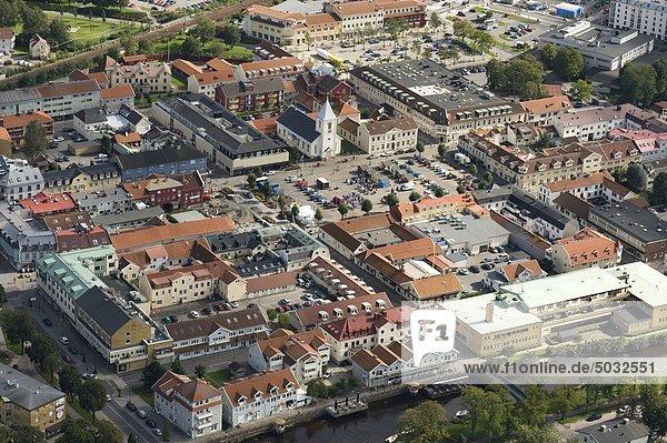Antenne Anzeigen der alten Stadt mit Marktplatz