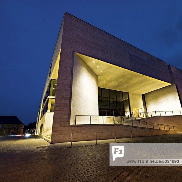 Museum Georg Schäfer bei Nacht  Schweinfurt  Deutschland