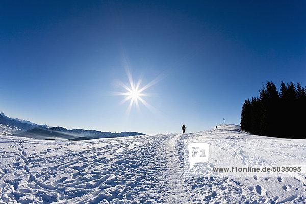 Frau beim Wandern auf dem Zwieselberg