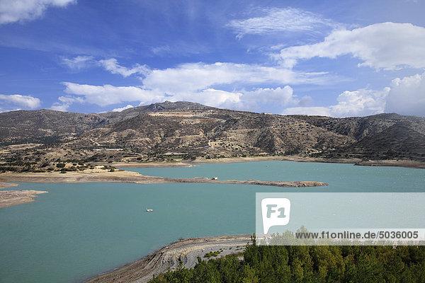 Griechenland  Kreta  Ierapetra  Bramiana  Blick auf den Stausee