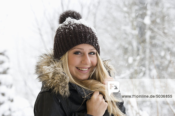 Austria  Teenage girl smiling  portrait
