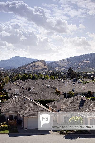 Residential neighborhood  Peachland  B.C.  Canada