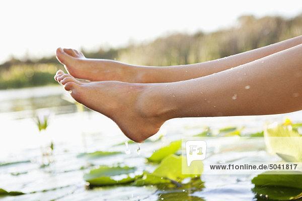Nahaufnahme der Beine einer Frau