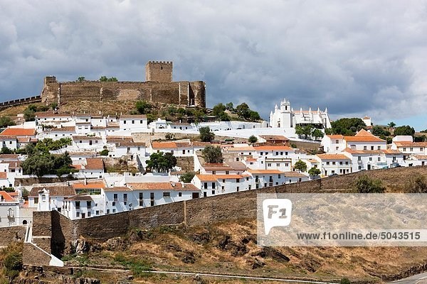Mertola and Castle  Alentejo District  Portugal  Europe