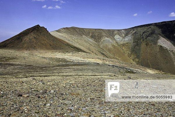 Wandern in der vulkanischen Landschaft der Berge Itcha Tweedsmuir Park British Columbia Kanada