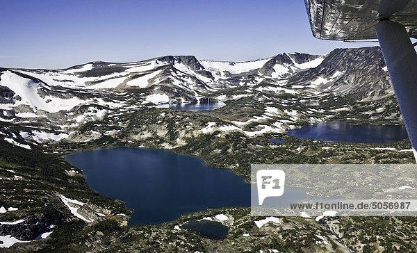 Luftbild in Charlotte-Alplands innerhalb der Chilcotin-Region von British Columbia Kanada