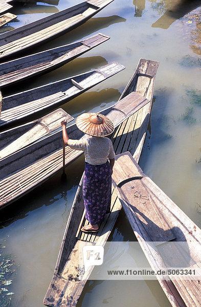 Asien  Birma  Inle-See  Schwimmender Markt