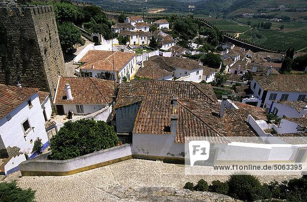 Portugal  Óbidos  das Dorf