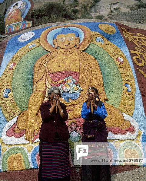 Buddha at Sera Monastery  Lhasa  Tibet China