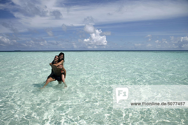 Maldives  coule in shallow water