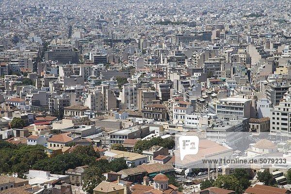 Athen Hauptstadt Großstadt Ansicht Griechenland