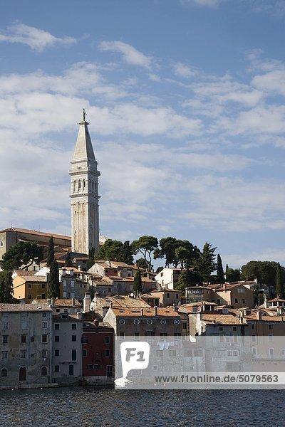 Meer Kirche Ansicht Kroatien Istrien Rovinj