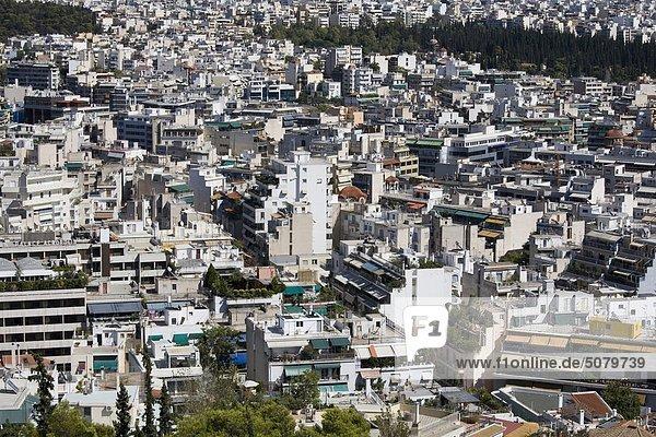 Athen Hauptstadt Großstadt Ansicht Luftbild Fernsehantenne Griechenland