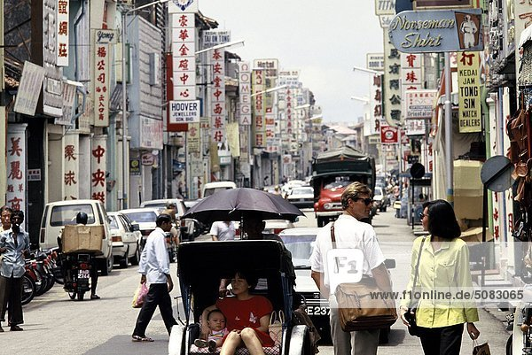 Straße in Penang  Malaysia