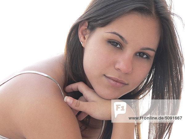 Der junge Frau hautnah
