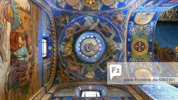 Ceiling.Church auf vergossenen Blutes  St Petersburg  Russland