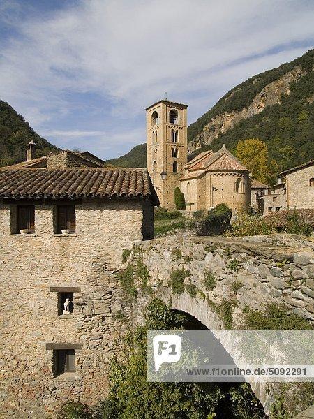 Spanien  Katalonien  Girona. San Cristobal de Baget. Romanische Kirche