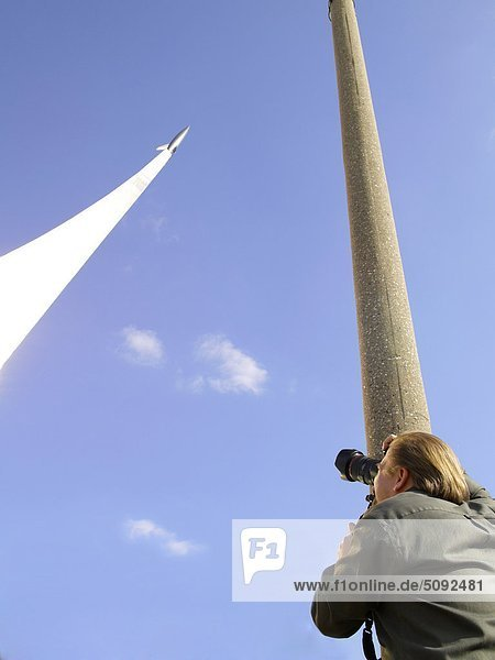 Russland  Moskau  Russland  Kosmos Raum-Denkmal