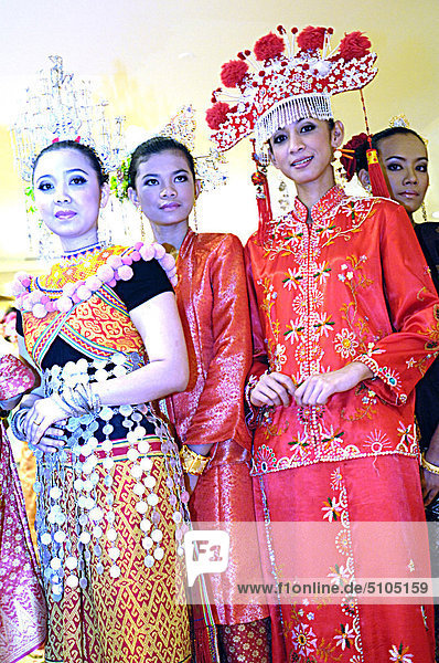 Asia  Malaysia  women in traditional dress