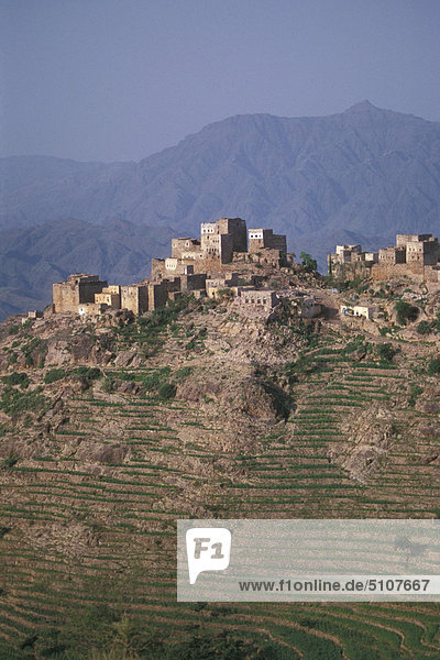 Berg Dorf Geographie Jemen