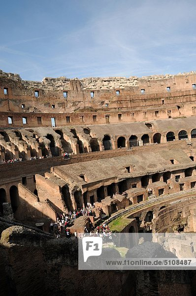 Italy  Lazio  Rome  the Colosseum.