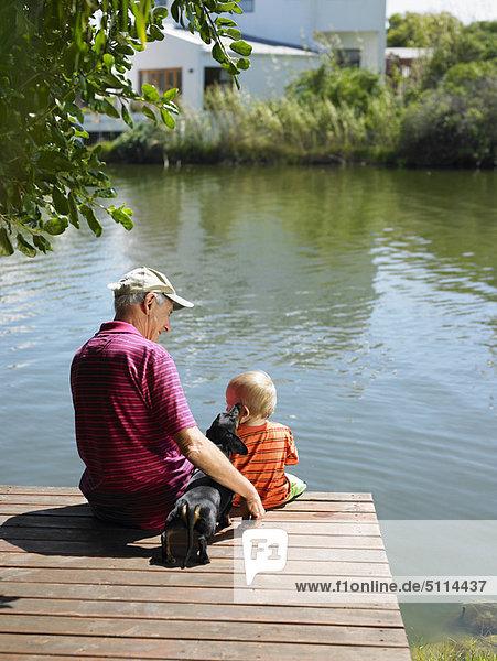 Mann  über  See  Enkelsohn  Steg