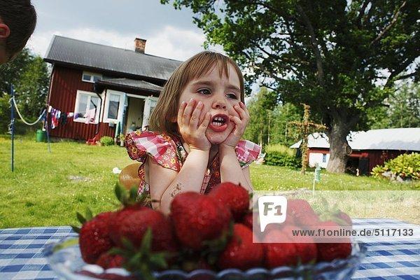 Mädchen drei Jahre alt  Schweden