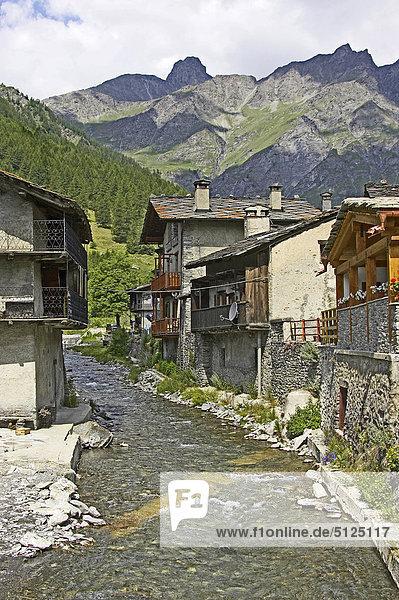 Italy  Alpes  Piedmont  Regional park of Varaita Valley Chianale village