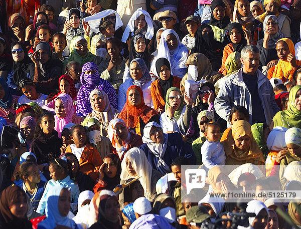 Afrika  Algerien  Beni Abbes Village  Masse