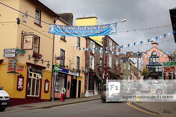 Killorglin city view Ring of Kerry  Iberagh Peninsula County Kerry  Ireland