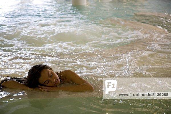 Frau Entspannung Wärme
