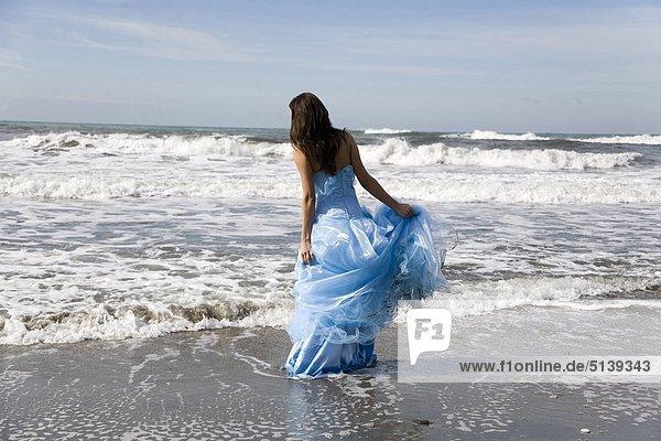 Braut Hochzeit Tag am Strand