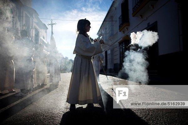 Heiligkeit Monte Prado Andalusien Ostern Weihrauch Prozession Spanien Woche