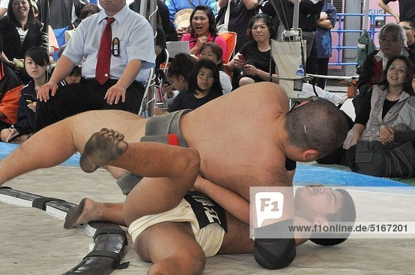 Naha (Japan): sumo show at the Dragon Boat Festival