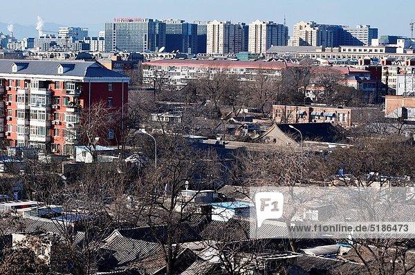 Großstadt Turm hoch oben Ansicht Peking Hauptstadt Glocke