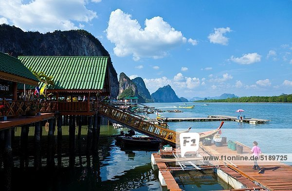 Panyee fishing village Phang Nga Bay  Andaman Sea  Thailand  Asia