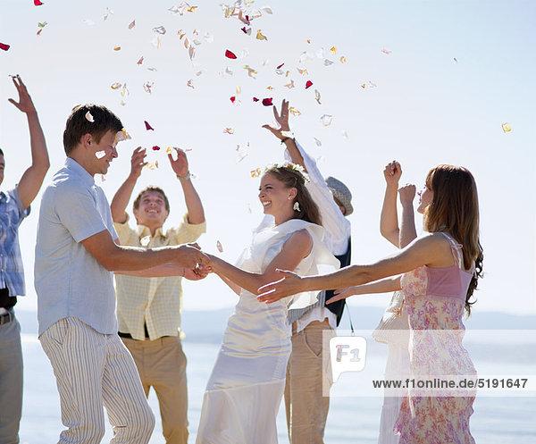 Freundschaft  Fest  festlich  Hochzeit